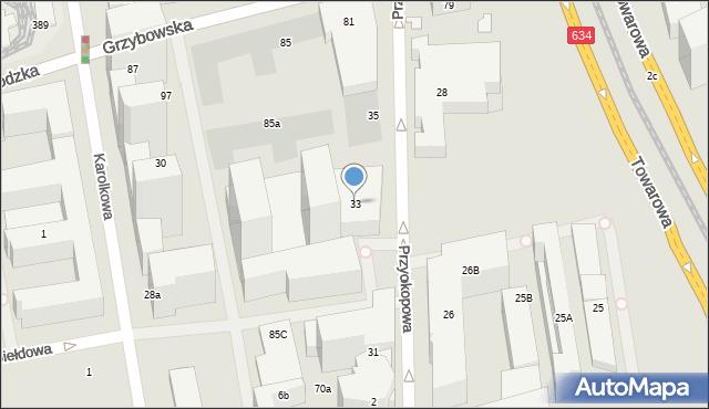 Warszawa, Przyokopowa, 33, mapa Warszawy