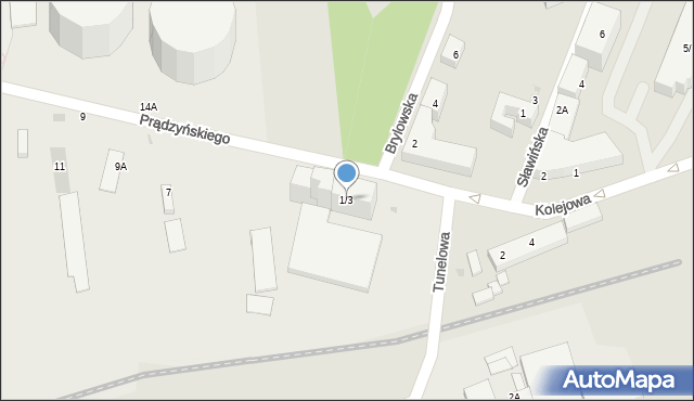 Warszawa, Prądzyńskiego Ignacego, gen., 1/3, mapa Warszawy