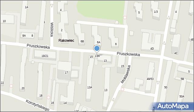 Warszawa, Pruszkowska, 13A, mapa Warszawy