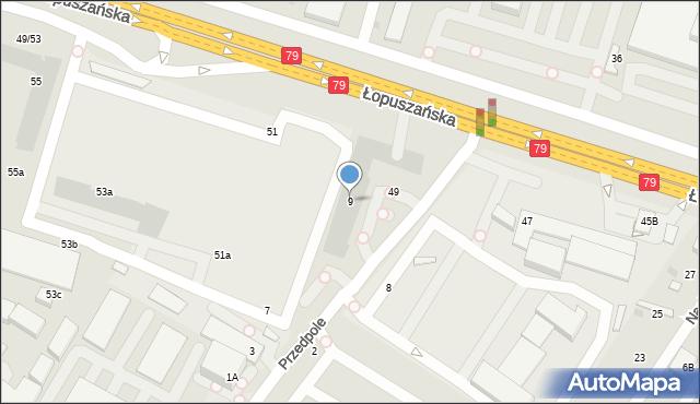 Warszawa, Przedpole, 9, mapa Warszawy