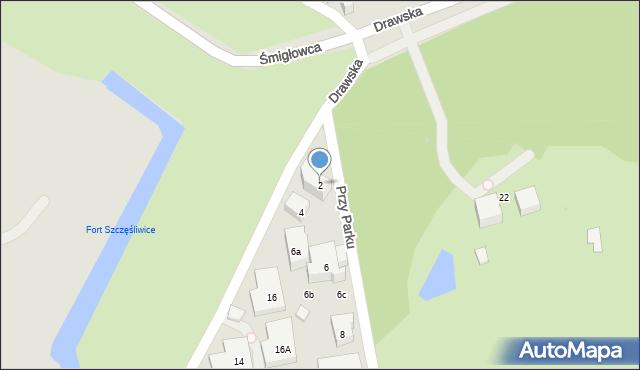 Warszawa, Przy Parku, 2, mapa Warszawy