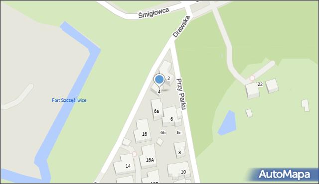 Warszawa, Przy Parku, 4, mapa Warszawy