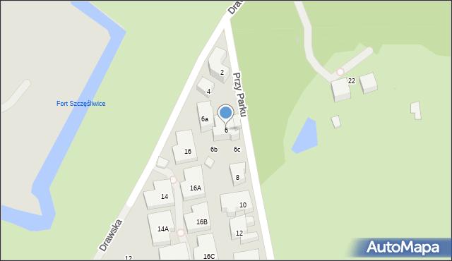 Warszawa, Przy Parku, 6, mapa Warszawy