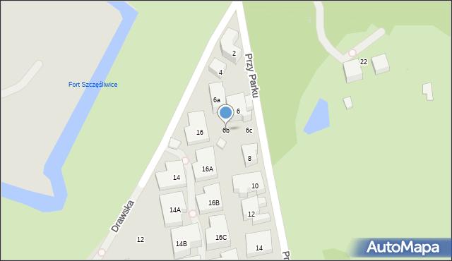Warszawa, Przy Parku, 6b, mapa Warszawy