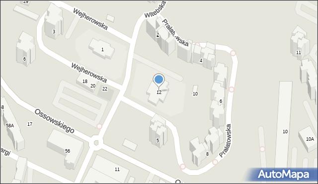 Warszawa, Prałatowska, 12, mapa Warszawy