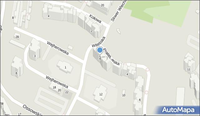 Warszawa, Prałatowska, 2, mapa Warszawy