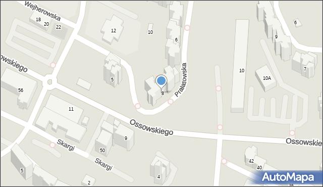 Warszawa, Prałatowska, 8, mapa Warszawy