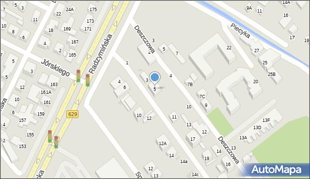 Warszawa, Promienna, 5, mapa Warszawy