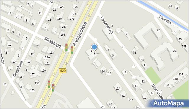 Warszawa, Promienna, 6, mapa Warszawy