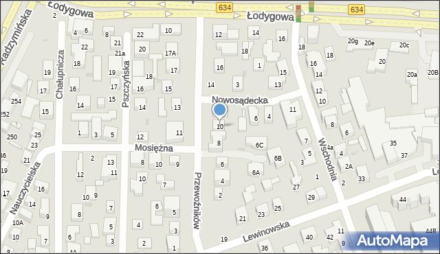 Warszawa, Przewoźników, 10, mapa Warszawy
