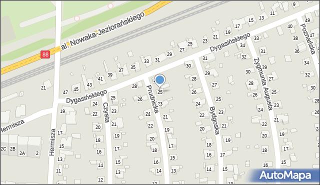 Zabrze, Prudnicka, 25, mapa Zabrza