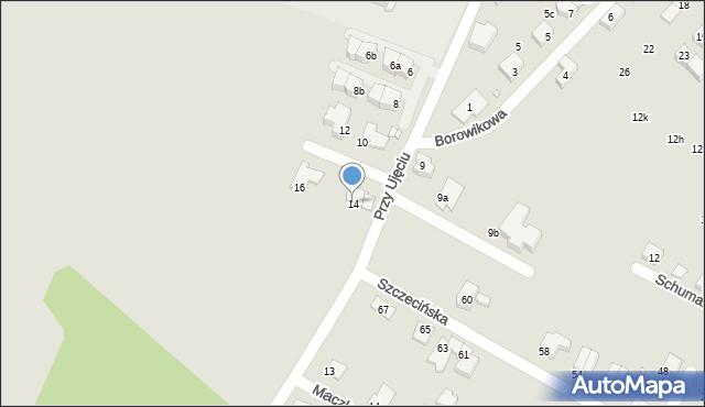 Zabrze, Przy Ujęciu, 14, mapa Zabrza
