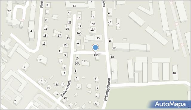 Zamość, Przemysłowa, 13A, mapa Zamościa