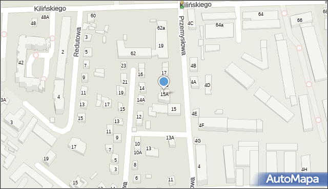 Zamość, Przemysłowa, 15A, mapa Zamościa