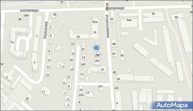 Zamość, Przemysłowa, 15B, mapa Zamościa