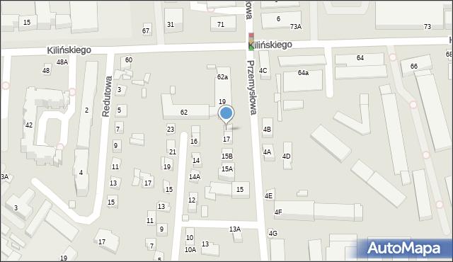 Zamość, Przemysłowa, 17A, mapa Zamościa