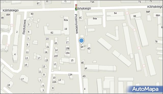 Zamość, Przemysłowa, 4A, mapa Zamościa