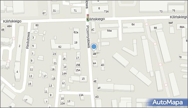 Zamość, Przemysłowa, 4B, mapa Zamościa