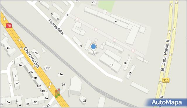 Bytom, Pszczyńska, 11, mapa Bytomia