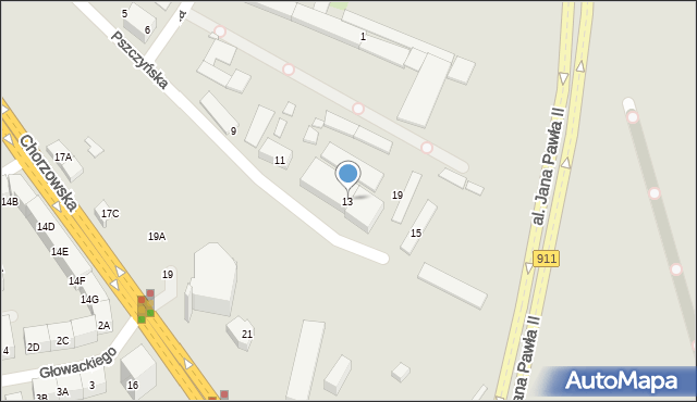 Bytom, Pszczyńska, 13, mapa Bytomia
