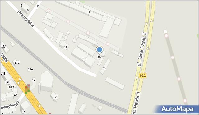 Bytom, Pszczyńska, 19, mapa Bytomia