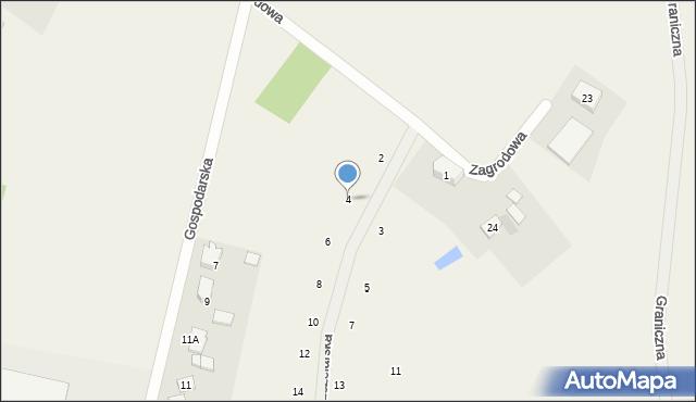 Kębłowo, Pszczelarska, 4, mapa Kębłowo