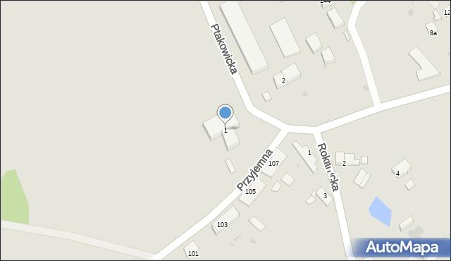 Bytom, Ptakowicka, 1, mapa Bytomia