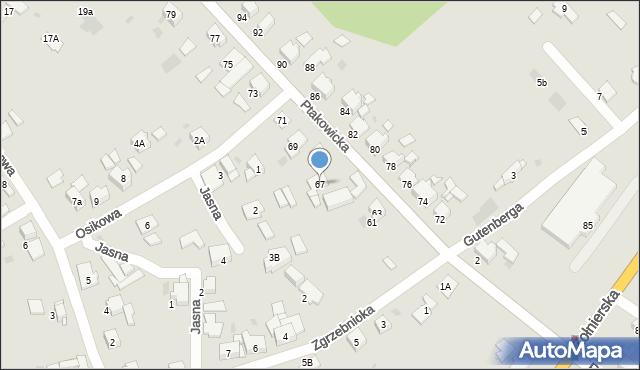 Bytom, Ptakowicka, 67, mapa Bytomia