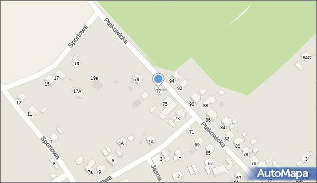 Bytom, Ptakowicka, 77, mapa Bytomia
