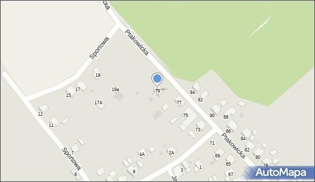 Bytom, Ptakowicka, 79, mapa Bytomia