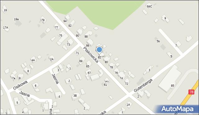 Bytom, Ptakowicka, 82, mapa Bytomia