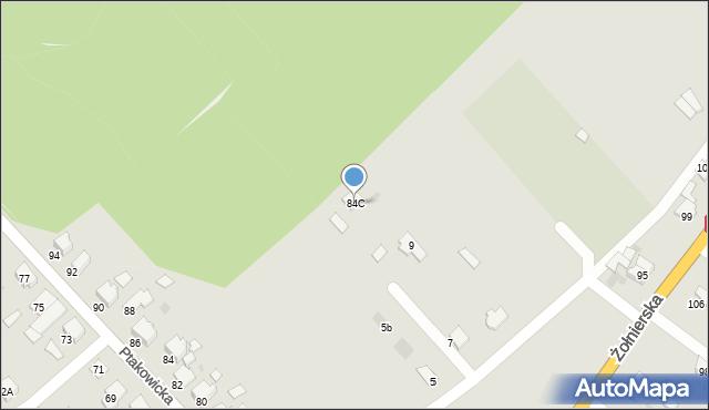 Bytom, Ptakowicka, 84C, mapa Bytomia