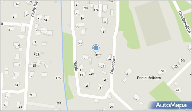 Jaworzno, Ptasia, 5C, mapa Jaworzno