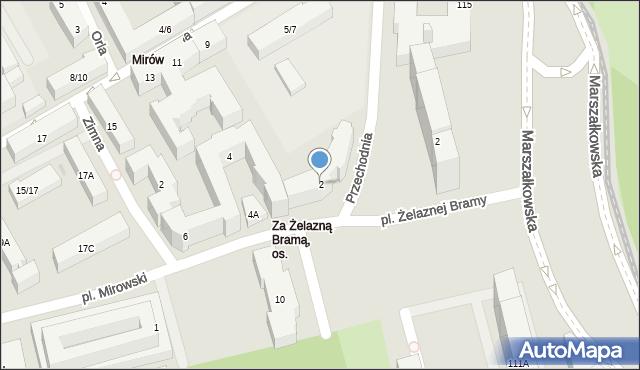 Warszawa, Ptasia, 2, mapa Warszawy
