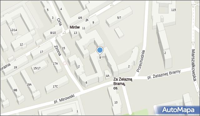 Warszawa, Ptasia, 4, mapa Warszawy
