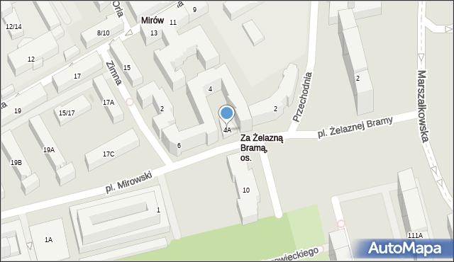 Warszawa, Ptasia, 4A, mapa Warszawy