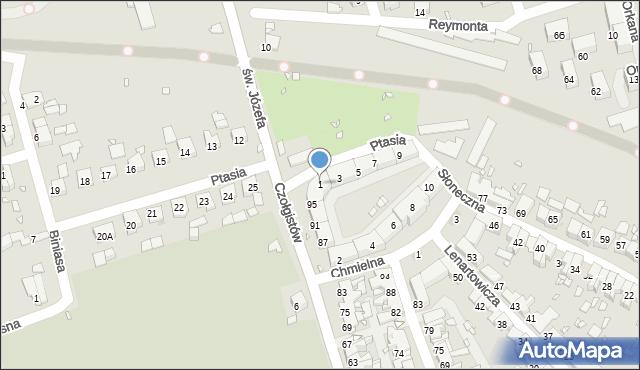 Zabrze, Ptasia, 1, mapa Zabrza