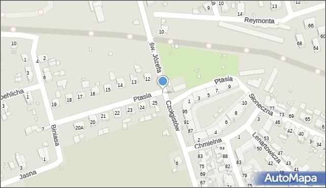 Zabrze, Ptasia, 12a, mapa Zabrza