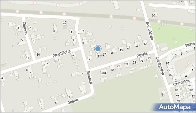 Zabrze, Ptasia, 18, mapa Zabrza