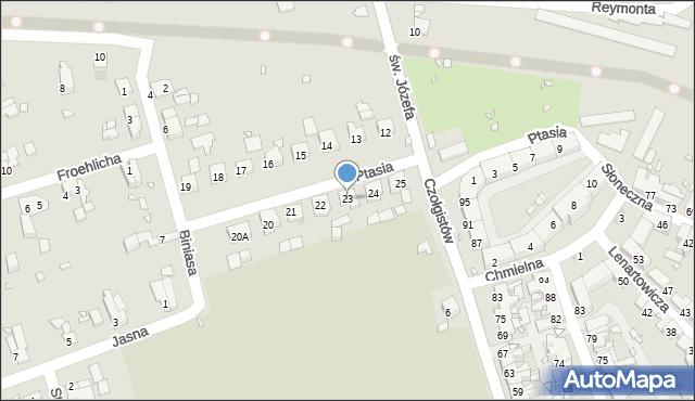 Zabrze, Ptasia, 23, mapa Zabrza