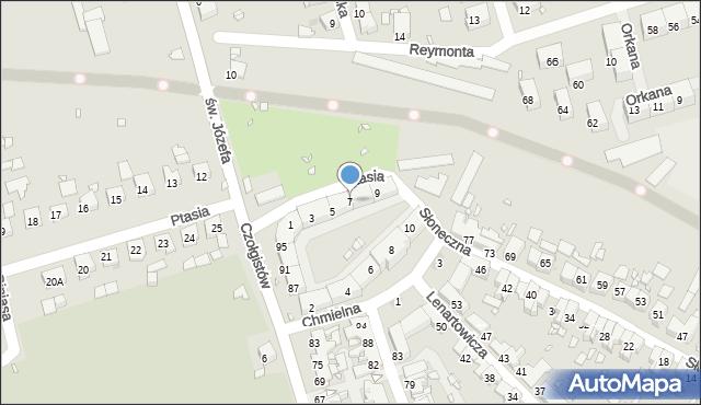 Zabrze, Ptasia, 7, mapa Zabrza