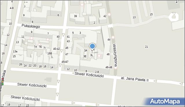 Gdynia, Pułaskiego Kazimierza, gen., 3K, mapa Gdyni