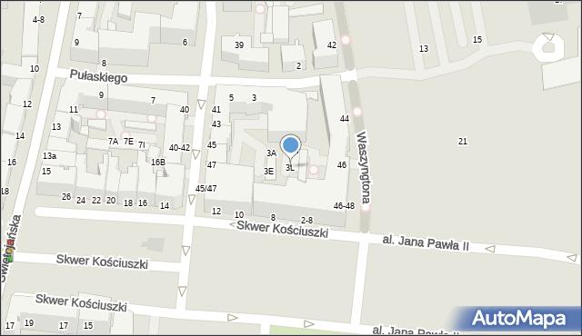 Gdynia, Pułaskiego Kazimierza, gen., 3L, mapa Gdyni