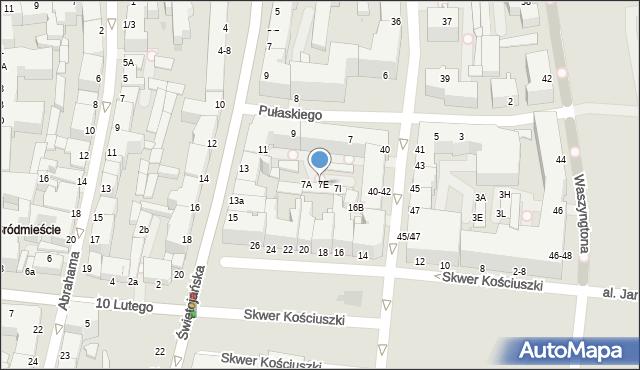 Gdynia, Pułaskiego Kazimierza, gen., 7D, mapa Gdyni