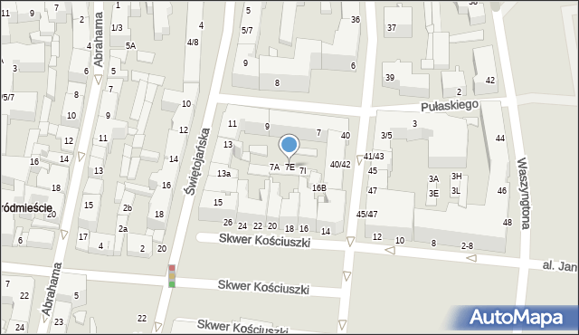 Gdynia, Pułaskiego Kazimierza, gen., 7E, mapa Gdyni