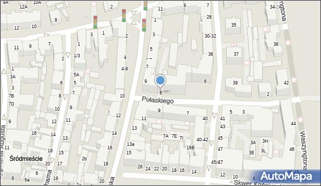 Gdynia, Pułaskiego Kazimierza, gen., 8, mapa Gdyni