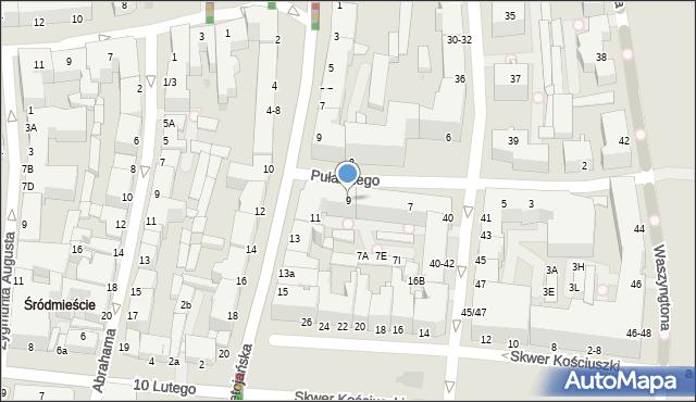 Gdynia, Pułaskiego Kazimierza, gen., 9, mapa Gdyni