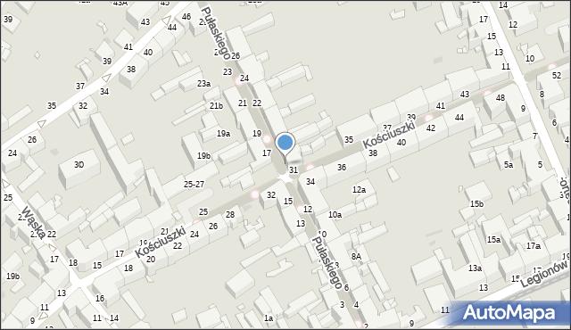 Grudziądz, Pułaskiego, 16, mapa Grudziądza