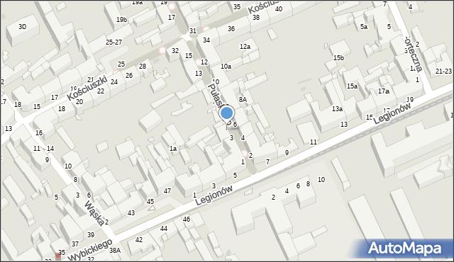Grudziądz, Pułaskiego, 5, mapa Grudziądza