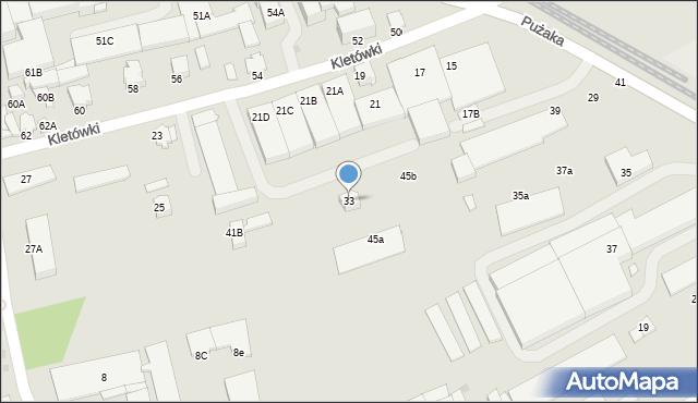 Krosno, Pużaka Kazimierza, 33, mapa Krosna